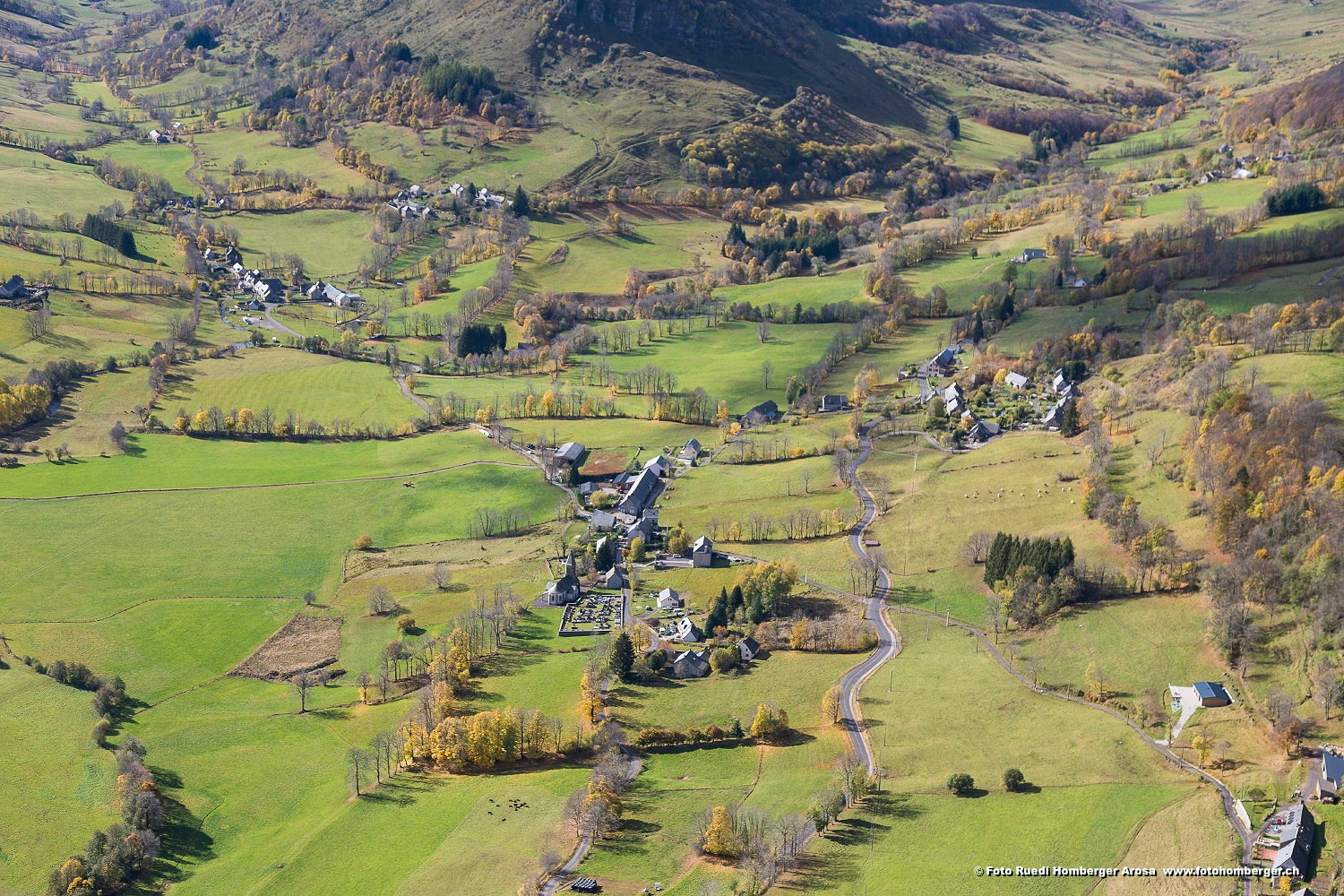 La commune de Lavigerie dans le Cantal. Photo ©Ruedi Homberger