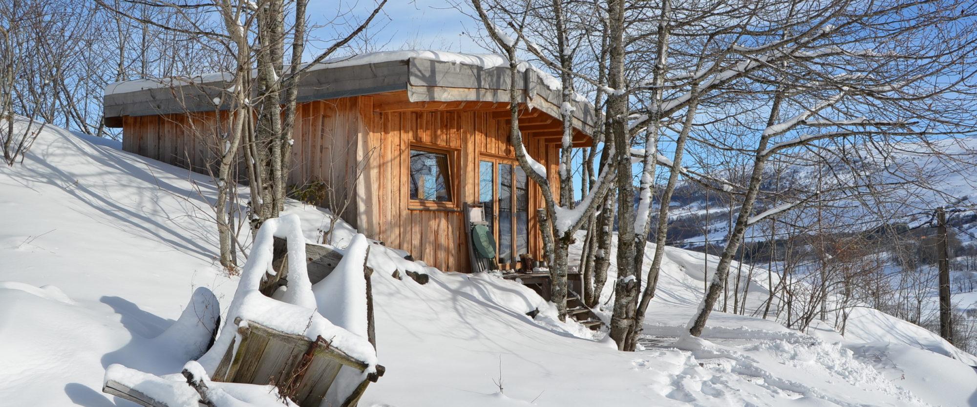 La cabane d'Alta Terra, l'endroit rêvé pour un séjour à deux! Photo ©Alta Terra