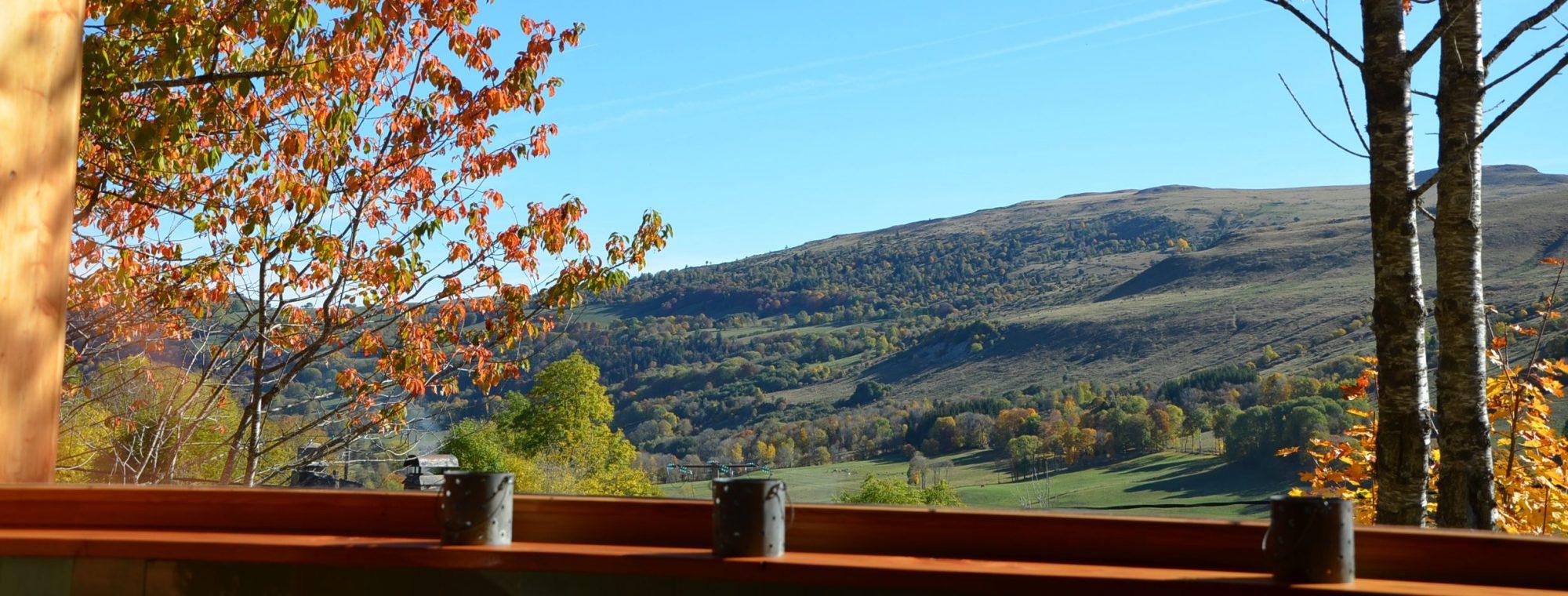 La vue sur les montagnes depuis la cabane. Photo ©Alta Terra